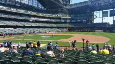 Miller Park, section: 112, row: 19, seat: 14