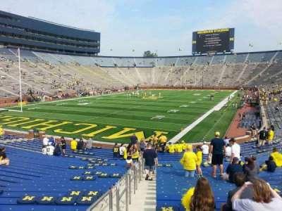 Michigan Stadium, section: 9, row: 30, seat: 10
