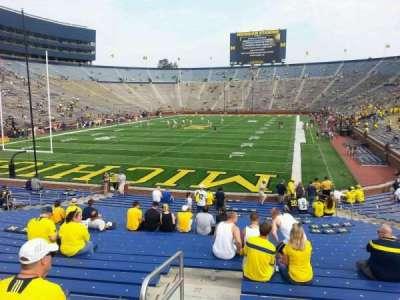 Michigan Stadium, section: 10, row: 30, seat: 9
