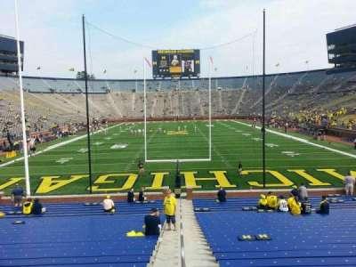 Michigan Stadium, section: 12, row: 30, seat: 13