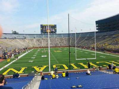 Michigan Stadium, section: 13, row: 30, seat: 13