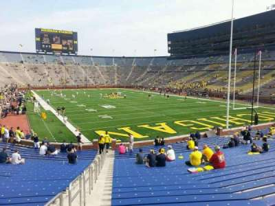 Michigan Stadium, section: 15, row: 30, seat: 10