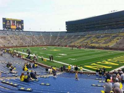 Michigan Stadium, section: 17, row: 30, seat: 10