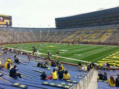 Michigan Stadium, section: 18, row: 30, seat: 10