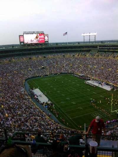 Lambeau Field, section: 738S, row: 11, seat: 11