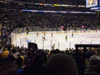 Bridgestone Arena, section: 103, row: H, seat: 1