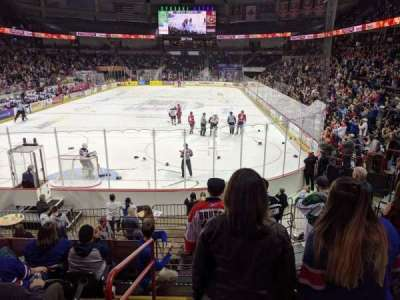 Spokane Arena, section: 123, row: P, seat: 17