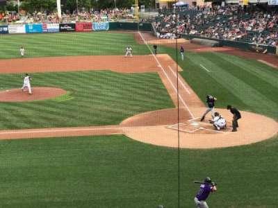 Smith's Ballpark, section: 111, row: 1, seat: 15-18