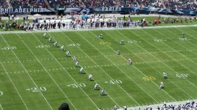 Lincoln Financial Field, section: 221, row: 20, seat: 1