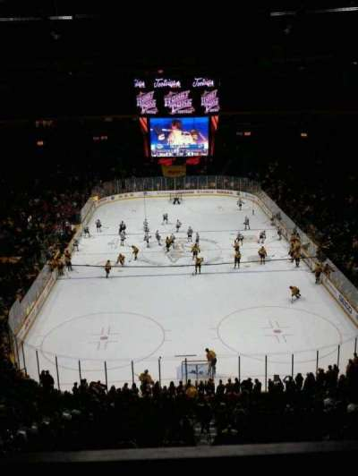 Bridgestone Arena, section: 301, row: A, seat: 16