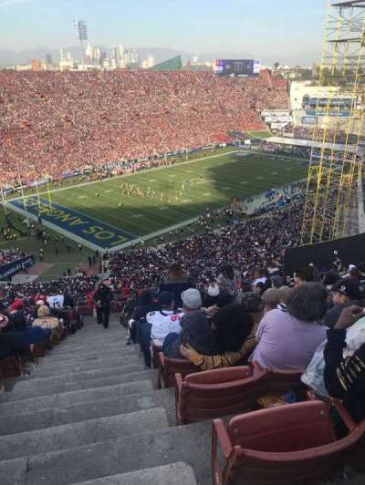 Los Angeles Memorial Coliseum, section: 10L, row: 93, seat: 1