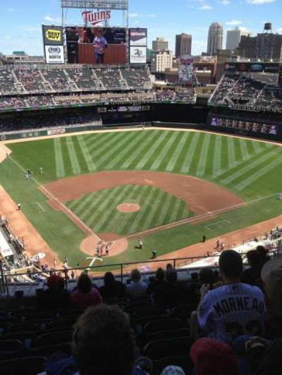 Target Field, section: 313, row: 9, seat: 14