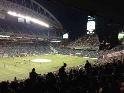CenturyLink Field, section: 215, row: Y, seat: 7