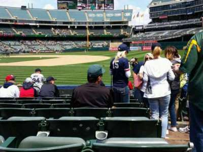 Oakland Alameda Coliseum, section: 109, row: 9, seat: 1