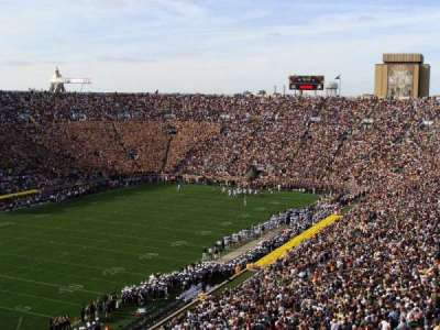 Notre Dame Stadium, section: 115, row: 18, seat: 16