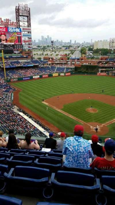 Citizens Bank Park, section: 421, row: 7, seat: 13