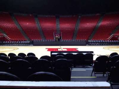 Jon M. Huntsman Center, section: A, row: 1, seat: 1
