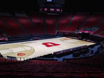 Jon M. Huntsman Center, section: Q, row: 19, seat: 7