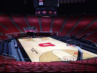 Jon M. Huntsman Center, section: V, row: 19, seat: 7