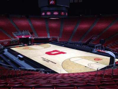 Jon M. Huntsman Center, section: W, row: 19, seat: 7