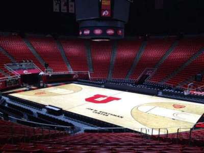 Jon M. Huntsman Center, section: X, row: 19, seat: 7