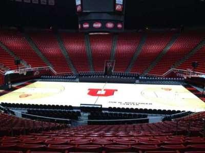 Jon M. Huntsman Center, section: Z, row: 19, seat: 7