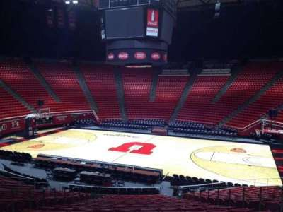 Jon M. Huntsman Center, section: L, row: 19, seat: 7