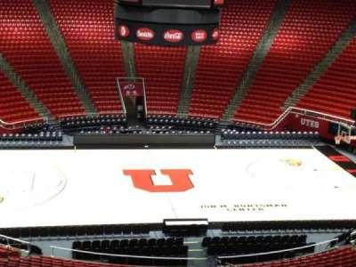 Jon M. Huntsman Center, section: aa, row: 1, seat: 18