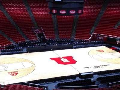 Jon M. Huntsman Center, section: bb, row: 1, seat: 18