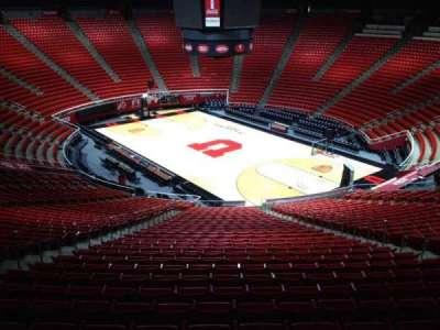 Jon M. Huntsman Center, section: jj, row: 1, seat: 18
