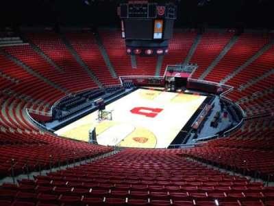 Jon M. Huntsman Center, section: ss, row: 1, seat: 18