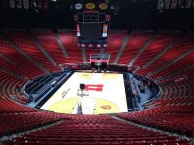 Jon M. Huntsman Center, section: tt, row: 1, seat: 18