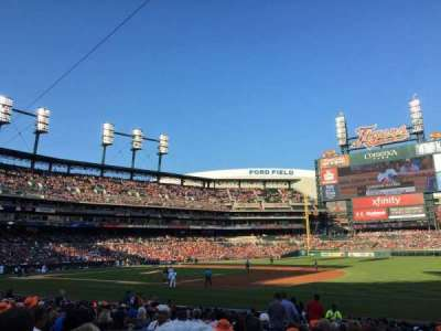 Comerica Park section 117