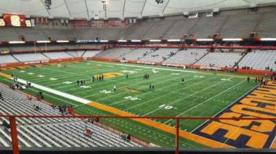 Carrier Dome, section: 314, row: b, seat: 16