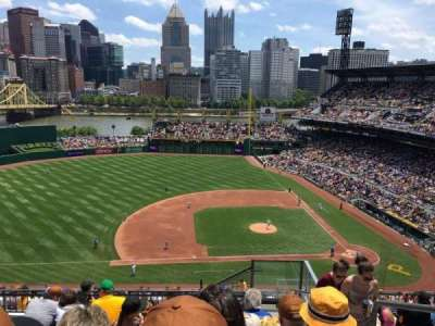 PNC Park, section: 323, row: Q, seat: 2