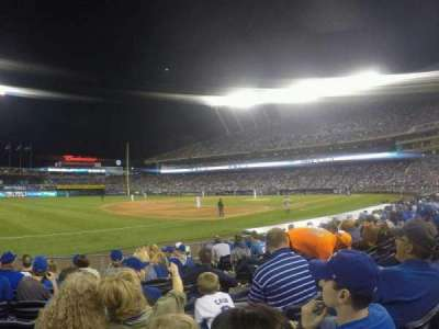 Kauffman Stadium, section: 115, row: H, seat: 9
