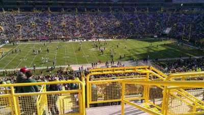 Lambeau Field, section: 322, row: 4, seat: 1