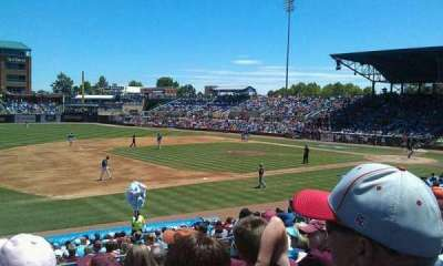Durham Bulls Athletic Park, section: 211, row: r, seat: 20