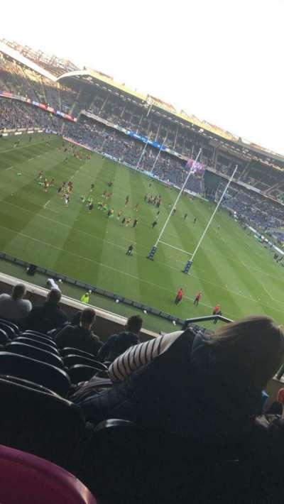 Murrayfield Stadium, section: North, row: H, seat: 12