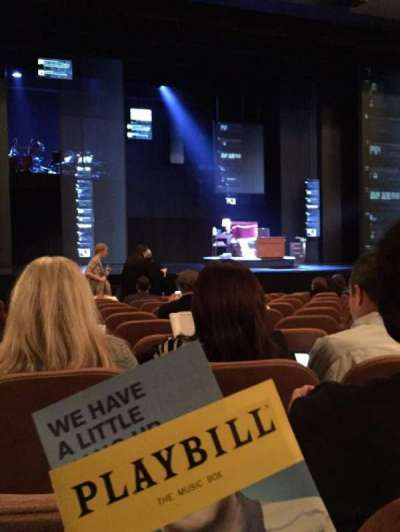 Music Box Theatre, section: Orchestra Center, row: L, seat: 113