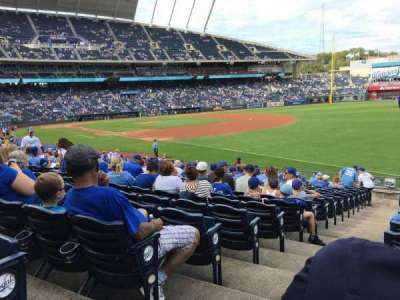 Kauffman Stadium, section: 143, row: W, seat: 1