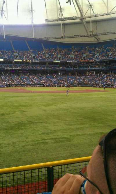 Tropicana Field, section: 147, row: w, seat: 16