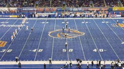 Albertsons Stadium, section: 108, row: X, seat: 22