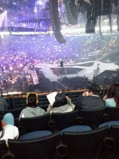 Oracle Arena, section: 124, row: 21, seat: 17