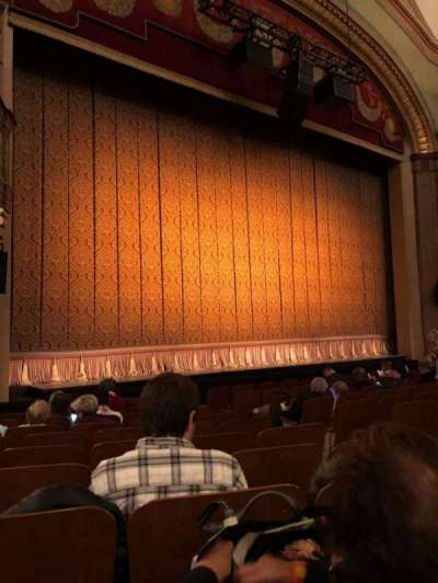 Booth Theatre, section: Orchestra L, row: J, seat: 7