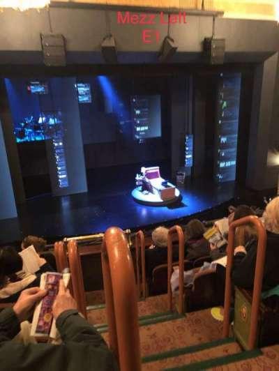 Music Box Theatre, section: Mezzanine L, row: E, seat: 1