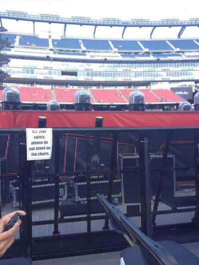 Gillette Stadium, section: B3, row: 27, seat: 2