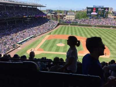 Wrigley Field, section: 528, row: 1, seat: 101
