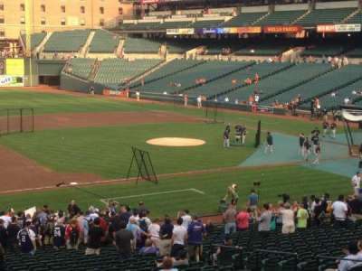 Oriole Park at Camden Yards, section: 55, row: 1, seat: 10