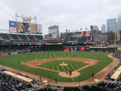 Target Field, section: J, row: 2, seat: 5